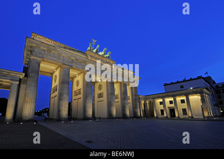 Brandenburg Gate in the early morning, Berlin, Germany, Europe - Stock Photo