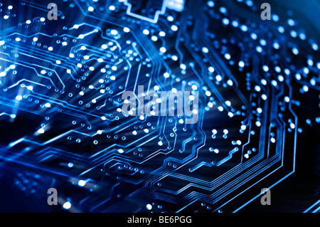 Circuit board conceptual background - Stock Photo