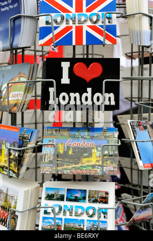 Postcards and greeting cards of London, England, United Kingdom, Europe - Stock Photo