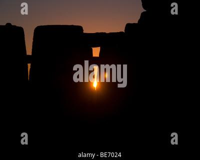 Sunrise at Stonehenge - Stock Photo