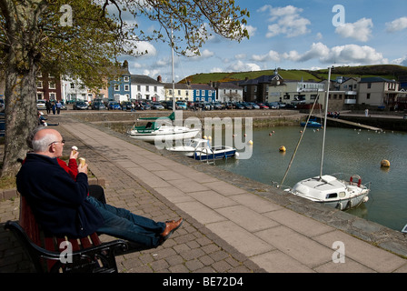 The harbour at Aberaeron, Dyfed, West Wales, UK - Stock Photo
