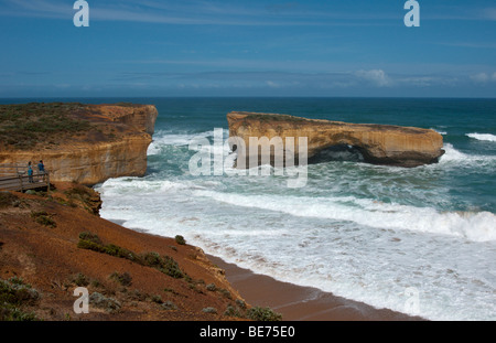 London Bridge which is now known as London Arch is located on the great ocean road Victoria Australia. - Stock Photo