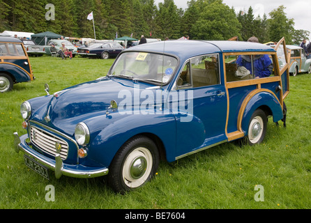 1970 Morris Minor Traveller at Scottish Borders Historic Motoring Extravaganza 2009 - Stock Photo
