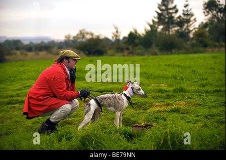 The Slipper With A Pair Of Whippets Waiting For The Start Of The Race - Stock Photo