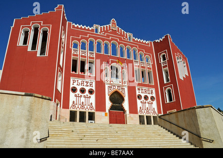 Plaza de Toros, facade, bullfighting arena, Caravaca de la Cruz, sacred city, Murcia, Spain, Europe - Stock Photo