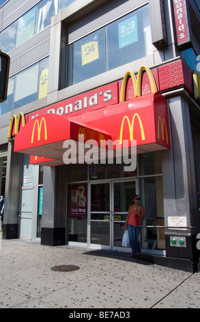 McDonald's restaurant in the Lower East Side neighborhood in New York on Saturday, August 30, 2009. (© Richard B. - Stock Photo