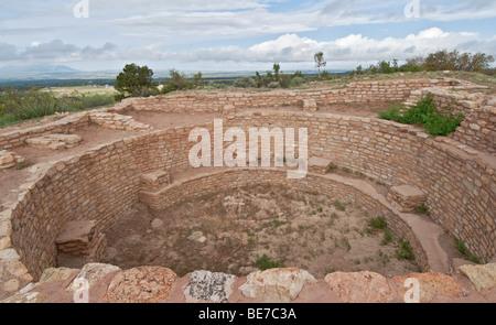 Colorado Dolores Anasazi Heritage Center Escalante Pueblo kiva - Stock Photo