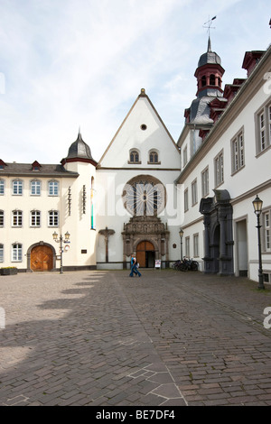 Jesuitenplatz Square, town hall in the back, Koblenz, Rhineland-Palatinate, Germany, Europe - Stock Photo