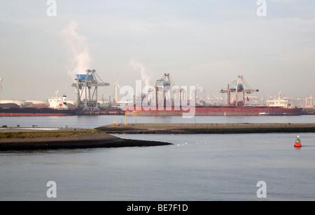 Heavy industry, Port of Rotterdam, Holland - Stock Photo