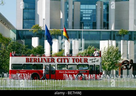 Berlin, the Berlin, the office of the German Federal Chancellor, the Bundeskanzleramt. EU/DE/DEU/GER/Europe/Germany, - Stock Photo