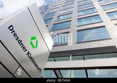 Headquarters of the investment bank Dresdner Kleinwort in Frankfurt, Hesse, Germany, Europe - Stock Photo