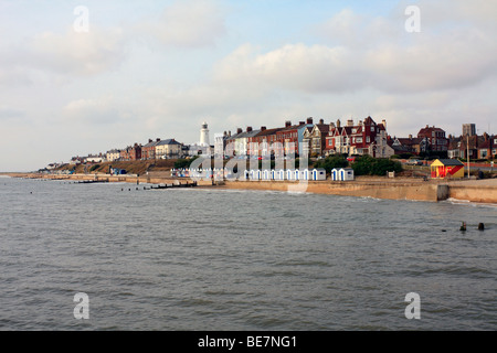 View of the town from the pier Southwold, Suffolk, England, UK. - Stock Photo