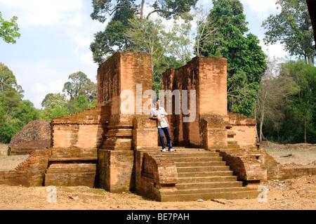 candi gedung, muara jambi, jambi sumatra indonesia - Stock Photo
