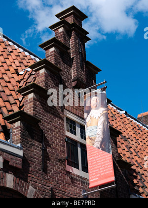 Exterior of Frans Hals museum, Groot Heiligland in Haarlem The Netherlands - Stock Photo