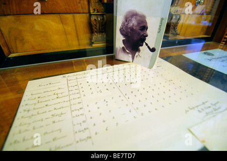 Interior of the Einstein house in Bern, Switzerland, where the famous scientist discovered his famous relativity - Stock Photo