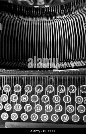 View of an old fashioned typewriter. - Stock Photo