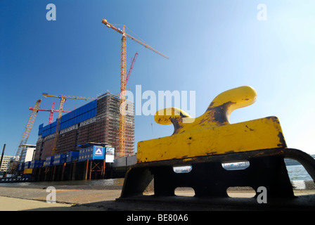 Construction work for the Elbphilharmonie opera house in the HafenCity, harbour city, Hamburg, Germany, Europe - Stock Photo