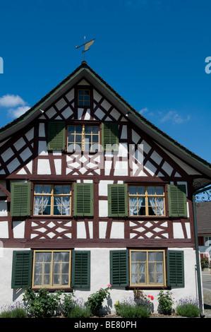 Restaurant Taverne Zum Schaefli, Owner and head chef Wolfgang Kuchler, Wigoltingen, Lake Constance, Switzerland - Stock Photo