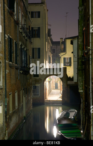 View from Ponte del Forner towards Rio de la Torre, Venice, Italy, Europe - Stock Photo