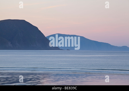The beach at Keel Strand on Achill Island. - Stock Photo