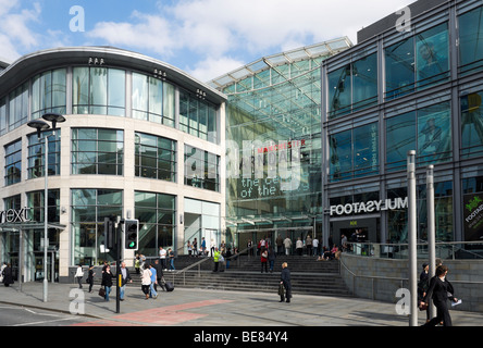Entrance to the Arndale Centre in Exchange Square, Manchester, England - Stock Photo