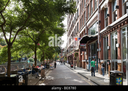 Pubs, Bars and Clubs along Canal Street in the Gay Village, City Centre, Manchester, England - Stock Photo
