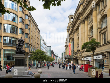 St Ann's Square with the Royal Exchange Theatre to the right, Manchester, England