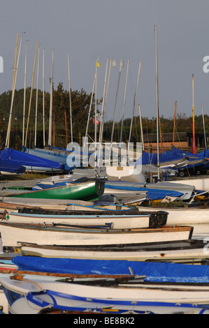 Boats at Orford Quay Suffolk - Stock Photo