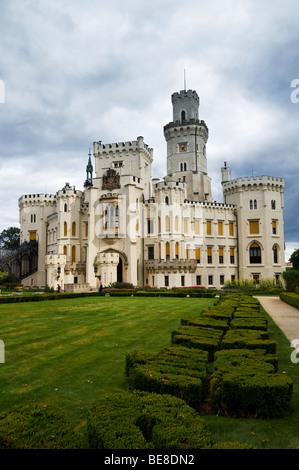 Castle, Hrad Hluboka nad Vltavou, South Bohemia, Czech Republic, Europe - Stock Photo