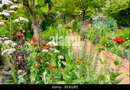 The main path through the TWIGS gardens in Swindon, Wiltshire, England, UK - Stock Photo