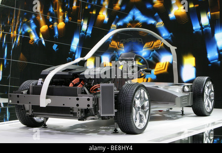 electric car Opel Ampera at the 63. IAA Motor Show in Frankfurt/Germany, 15.9.2009 - Stock Photo
