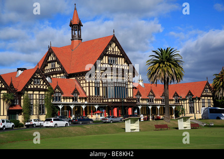 Art Gallery and Museum in the old Bath House, Rotorua, North Island, New Zealand - Stock Photo