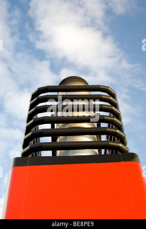 A funnel stack on the MV Bute Calmac Ferry. - Stock Photo