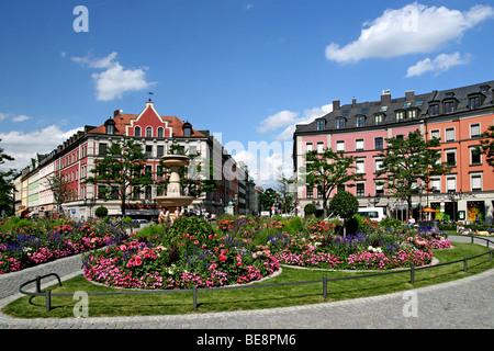 Theatre at Gaertnerplatz square, Giesing, Munich, Germany, Europe - Stock Photo