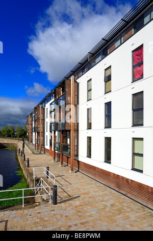 Wakefield Waterfront Development, Calder and Hebble Navigation, West Yorkshire, England, UK. - Stock Photo