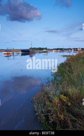 High Tide on a Summer Evening at Thornham on the North Norfolk Coast - Stock Photo