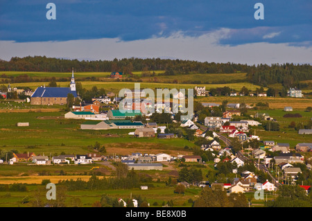 Town of Les Eboulements Charlevoix region Province of Quebec canada - Stock Photo