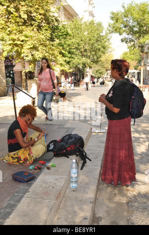 Israel, Jerusalem, Ben Yehuda pedestrian street - Stock Photo
