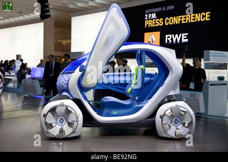 Renault Twizy ZE concept at a European motor show - Stock Photo