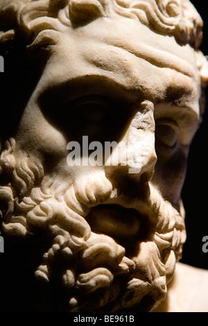 ITALY Rome Lazio Capitoline Museum Palazzo Dei Conservatore Copy in Pentelic marble of a statue of Fighting Hercules - Stock Photo