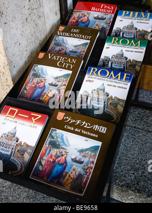 ITALY Lazio Rome Display of guide books to the city and the Vatican in different languages - Stock Photo
