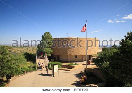 The Far View Visitors Center at Mesa Verde National Park, Colorado, USA - Stock Photo