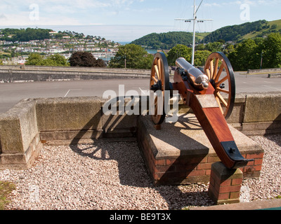 The view from Britannia Royal Naval College, Dartmouth, Devon, England - Stock Photo