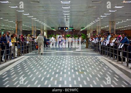 Indira Gandhi International Airport in Delhi India - Stock Photo