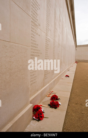 National Memorial Arboretum, Remembrence Day Poppies at the Armed Forces Memorial - Stock Photo