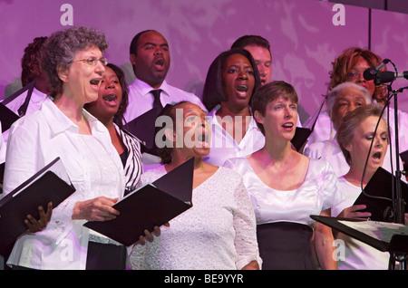 Pittsburgh, Pennsylvania - The Pittsburgh Gospel Choir. - Stock Photo