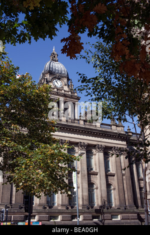 Leeds Town Hall, Leeds, West Yorkshire UK - Stock Photo