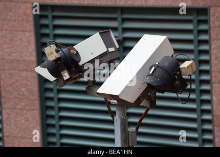 closed circuit tv camera, London Underground, London, England UK - Stock Photo