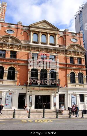Royal Court Theatre, Sloane Square, Chelsea, Royal Borough of Kensington and Chelsea, London, England, United Kingdom - Stock Photo
