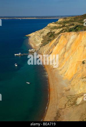 Alum Bay, Isle of Wight, England, UK. - Stock Photo